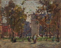 washington square by paul cornoyer