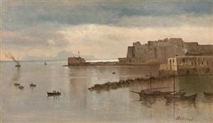 bay of naples by albert bierstadt