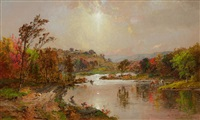 an october morning by jasper francis cropsey