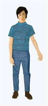 lot 272: signed 1980 alex katz the striped shirt etching by alex katz