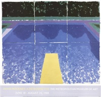 lot 65: 1988 david hockney day pool with three blues poster by david hockney