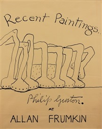 recent paintings...at allan frumkin by philip guston