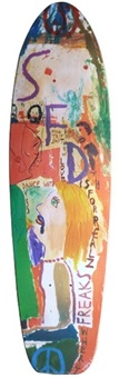 skateboard (collaboration) by barry mcgee and chris johanson