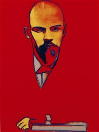 red lenin f&s. ii.403 by andy warhol