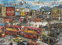 piccadilly circus (postcards from nowhere) by vik muniz