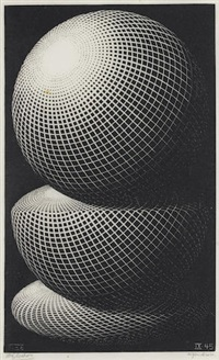 three spheres by m. c. escher
