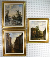 cottages by a stream (+ 2 others, lrgr; 3 works) by raymond quence