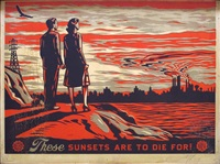 sunsets to die for by shepard fairey