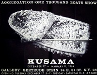 aggregation: one thousand boats show poster (signed) by yayoi kusama