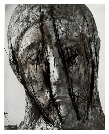 painted head by arnulf rainer