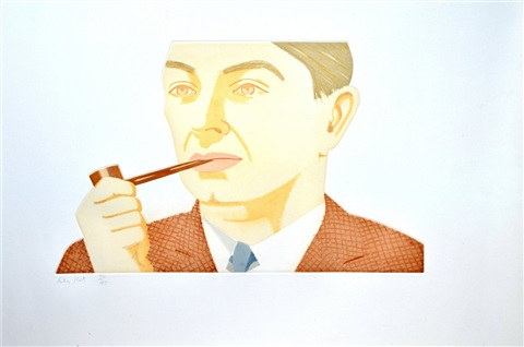 man with pipe by alex katz