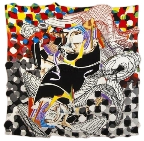 the whale watch shawl by frank stella