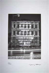 xénon pour le peggy guggenheim by jenny holzer