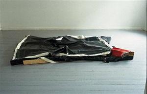 clutter i (with blanket) by angela de la cruz