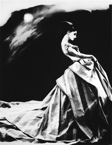 night bloom anneliese seubert ball gown by john galliano for heaute couture givenchy paris by lillian bassman