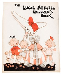 the lucie attwell children's book, title page illustration by mabel lucie attwell