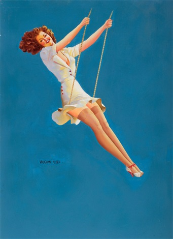 pin up on a swing by vaughan alden bass