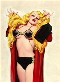 deco blonde, pulp cover by enoch bolles