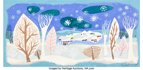 Mary Blair Melody Time Once Upon A Wintertime Conceptcolor Key Painting Walt Disney 1948 By Mary Robinson Blair On Artnet