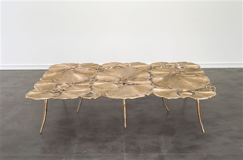 Table basse gingko grande by claude lalanne on artnet for Table basse grande dimension
