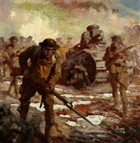 wwi soldiers and tanks by harry t. fisk