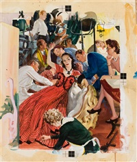 hollywood wife, story illustration by john gannam