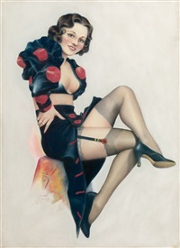 pin-up in black by cardwell spencer higgins