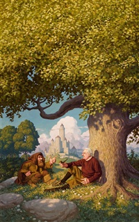 j.r.r. tolkien: architect of middle earth, book cover by greg & tim hildebrandt brothers