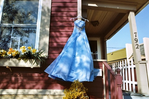 Blue Secondhand Prom Dress, South Wedge by Rebecca Norris Webb on artnet