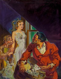 the living statue, pulp cover by norman saunders