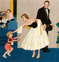 little boy with dirty hands, saturday evening post cover by amos sewell