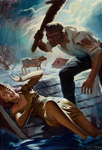 speed adventure stories cover by hugh j. ward