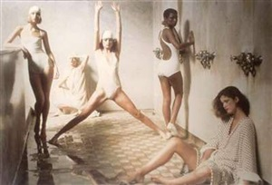 from the bath house series, vogue, 1975 by deborah turbeville
