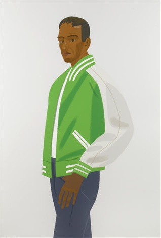 green jacket from alex and ada the 1960s to the 1980s portfolio by alex katz