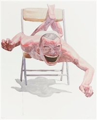 when you smile, your shadow laughs (from smile-ism series) by yue minjun