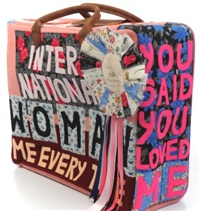 international woman suitcase by tracey emin
