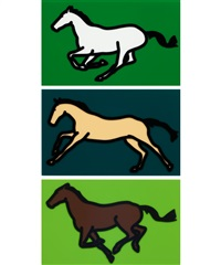 galloping horses (complete series of three works) by julian opie