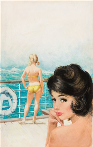 voluptuous voyage paperback cover by bruce minney
