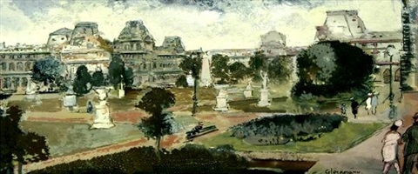jardins des tuileries by grigory gluckmann - Jardins Des Tuileries