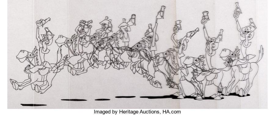 Melody Time Pecos Bill And Widowmaker Inkers Test Cel Sequence Of 8 Walt Disney 1948 Total 8 Items By Walt Disney Studios On Artnet