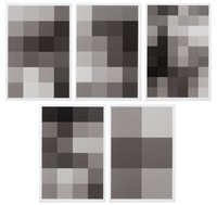 untitled (complete set of 5 works) by christopher wool