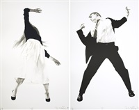 two prints from men in the cities by robert longo