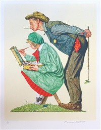 the hayseed critic by norman rockwell