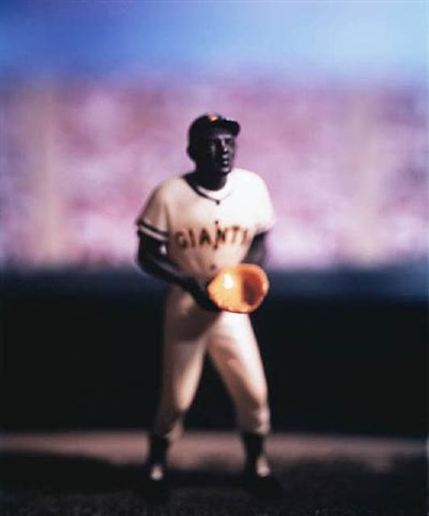 baseball (willie mays) - from david levinthal: baseball series by david levinthal
