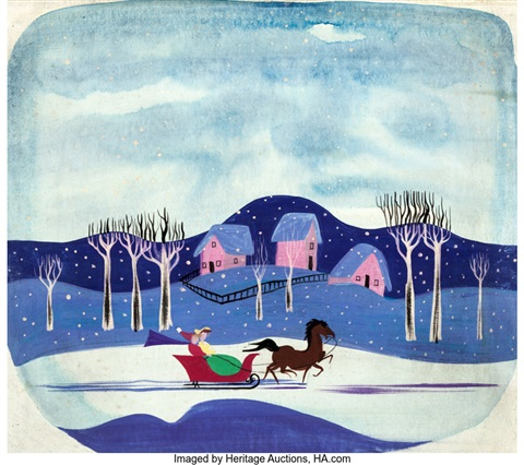 Mary Blair Melody Time Once Upon A Wintertime Conceptcolor Key Painting Walt Disney 1948 By Walt Disney Studios On Artnet