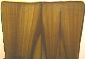 7 bronze <br><b>presented in association with the estate of morris louis, represented exclusively by diane upright fine arts, llc<br>photo © 1993 marcella louis brenner</b> by morris louis