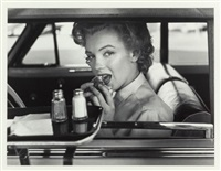 marilyn at the drive-in by philippe halsman