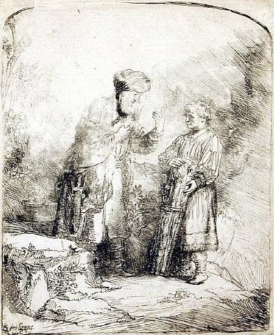 abraham and isaac by rembrandt van rijn