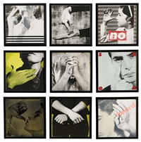 untitled (we will no longer be seen and not heard) (9 works) by barbara kruger