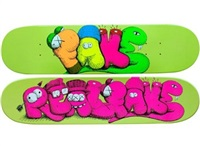 real fake skate deck by kaws